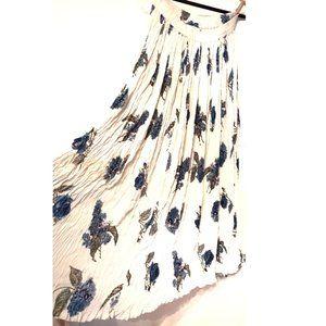 STYLEWORKS Floral Wrinkle Broomstick Skirt S